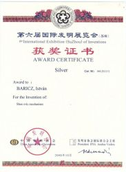 Ezüstérem - Suzhou